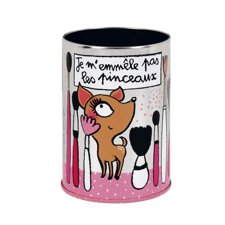 Pot à Pinceaux De maquillage - Derrière La Porte DLP - Boite produits de beauté/Accéssoire maquillage et beauté original - espritlogis-fr