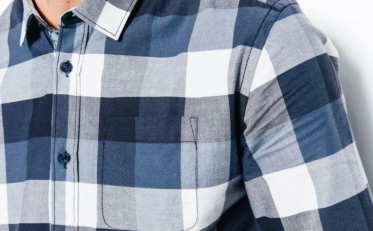 Chemise coupe ajustée carreaux