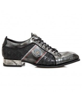 New Rock VIP Negro Cuero Zapatos M.NW136-S8, Black, 47 EU