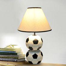 Современный смолы футбол настольные лампы детские спальни настольные лампы кабинет творческий ткани светильники