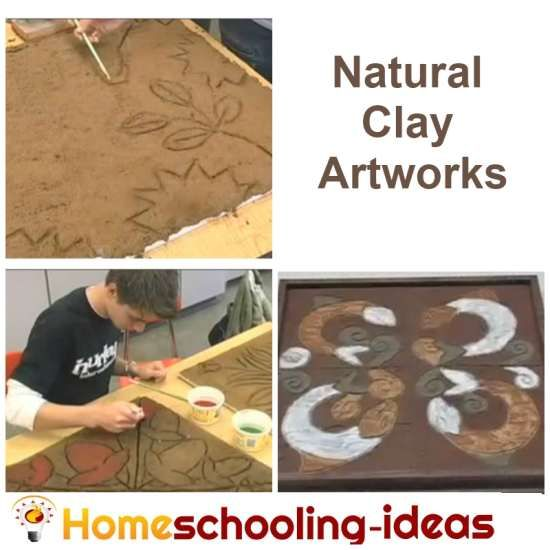 Natural Clay Art Work Clay Projects For Kids A Well
