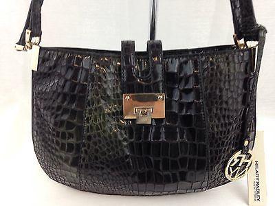 Handbag Embossed Croco Shoulder Bag Evening Purse Olive Green Hilary Radley