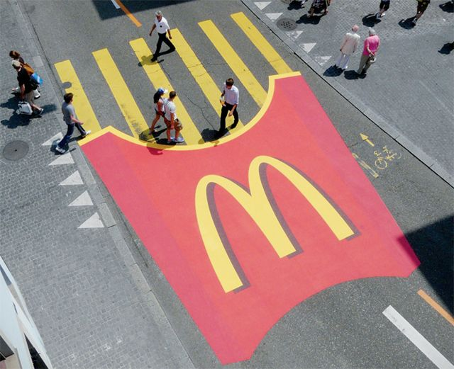 15.) McDonald's, suggesting lunch.