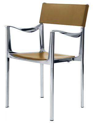 Trend awesome Magis Venice Sessel Gestell Aluminium poliert R ckenlehne Leder Magis http