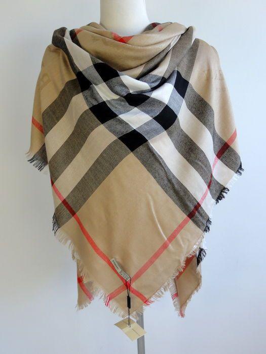 Nu in de #Catawiki veilingen: Burberry - sjaal - omslagdoek - nieuw