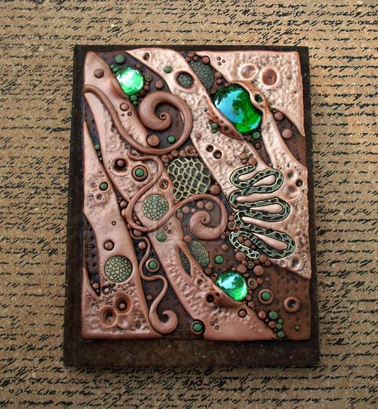 Custom Journal Cover in Copper and Umber by *MandarinMoon on deviantART