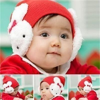 4 months to 3 years Earmuffed With Big Rabbit On Baby Hats: Cheap Online Sale - HatSells.com