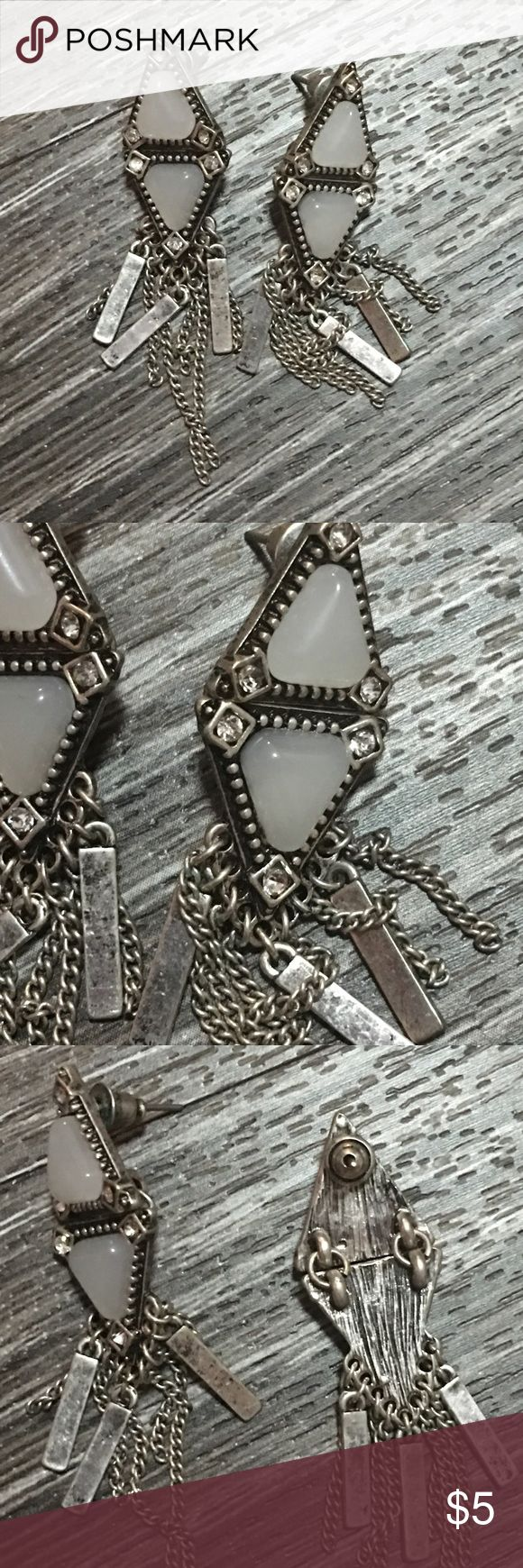 Chic Forever 21 Festival Earrings NWOT Love these earrings, but they are never worn! The antiquing finish is perfect to add edge to any look! Forever 21 Jewelry Earrings