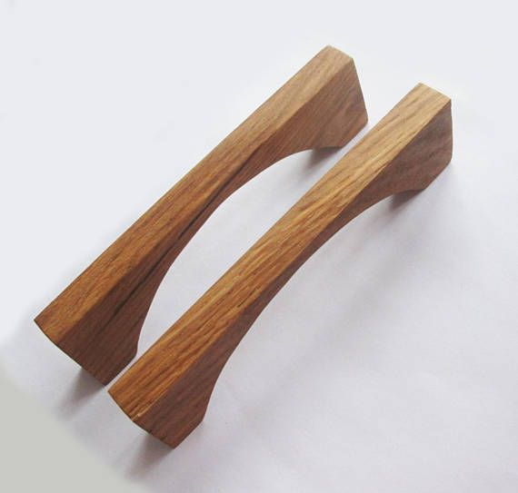 Modern Cabinet Pulls 2 Oak Wood Drawer Handles Rustic Home Wooden Drawer Pulls Drawer Handles Wooden Drawers
