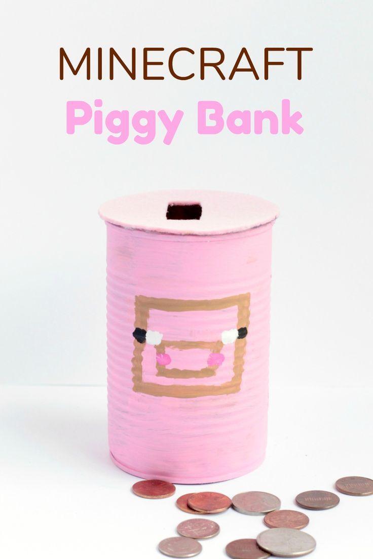 Minecraft Piggy Bank | SKrafty