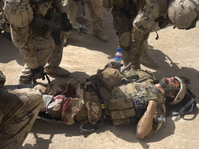 Canadian soldier wounded by an Improvised Explosive Device