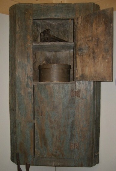 Prim Corner Wall Cupboard...The old Shed - Antiques and Primitives - Russiaville, Indiana 765-883-8323.