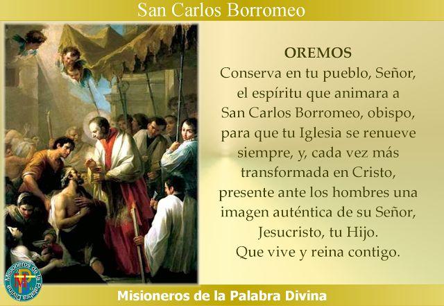 MISIONEROS DE LA PALABRA DIVINA: SANTORAL - SAN CARLOS BORROMEO