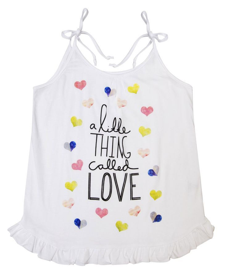 Alex and Ant Frill Singlet Love Size 3 - 8