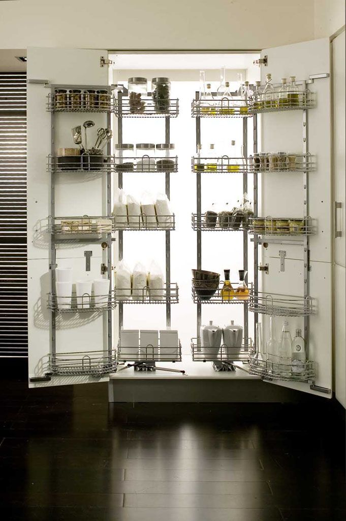 Swing out pantry units