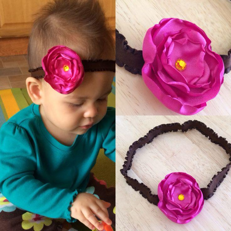 Homemade satin headband for my baby girl baby loves pinterest