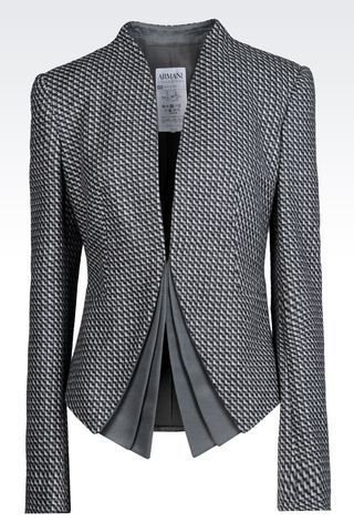JACKET IN WOOL AND CASHMERE: Dinner jackets Women by Armani - 1