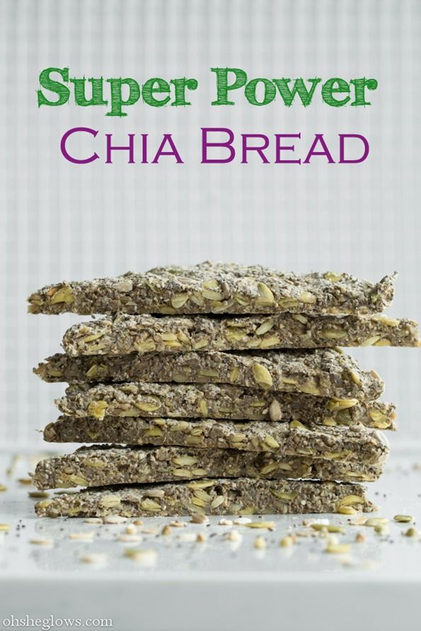 Super Power Chia Bread! You won't believe this is gluten-free, vegan, oil-free, nut-free, soy-free and ready in 30 minutes flat. 9 grams of protein and 7.4 grams of fibre per slice.