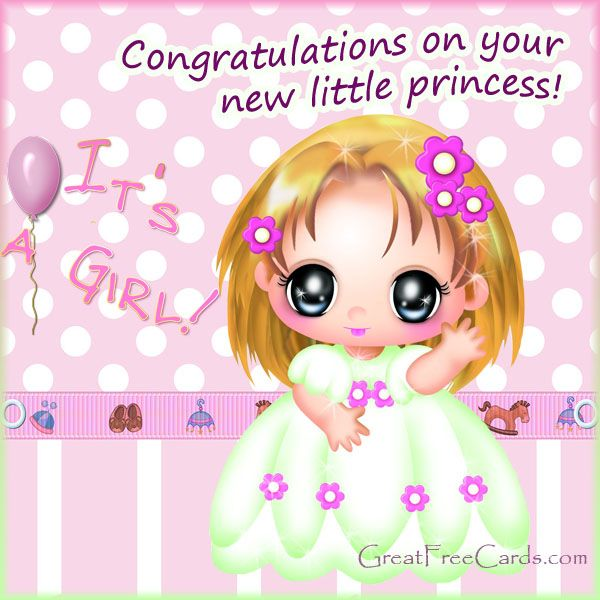 welcome baby girl messages