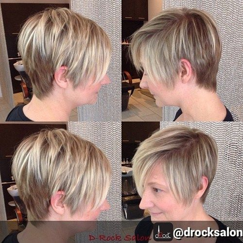 long pixie hairdo