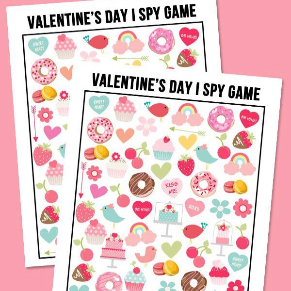 Free Valentines Day I Spy Printable Game Valentines