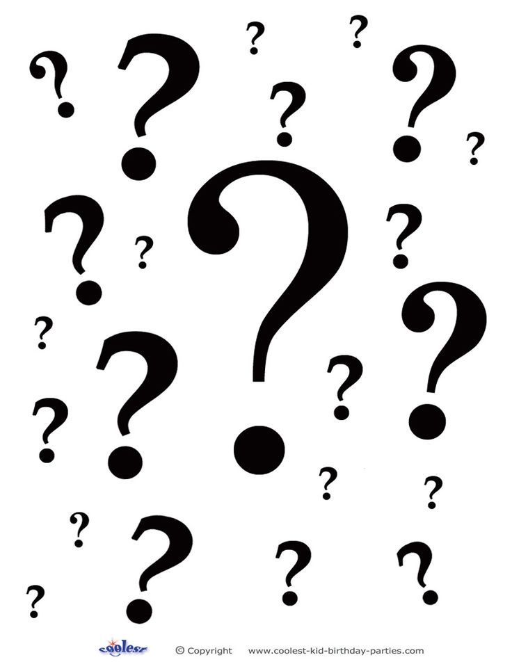 Printable Question Marks Decoration