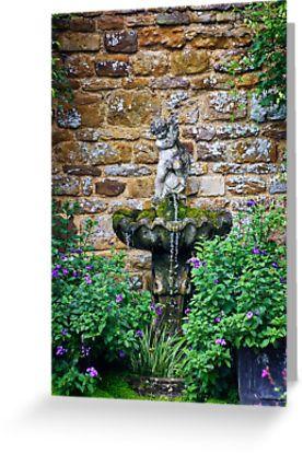 Garden Fountain greetings card