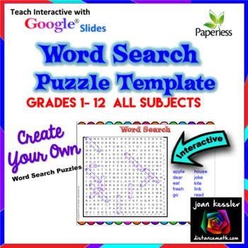 138 best secondary math end of year activities images on for Create your own word search template