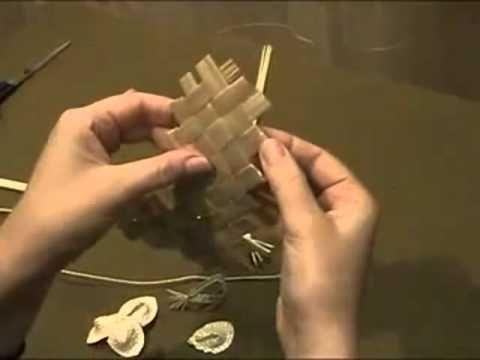 Плетение из соломы Лист рогожка.mp4 - YouTube