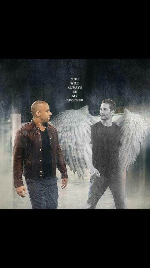 Vin Diesel & Paul Walker brother for life :(Com certeza ele está sentadinho em uma nuvem azul).