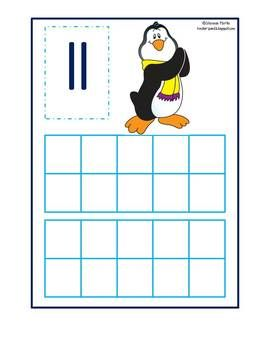 Penguin Ten Frames 11-20