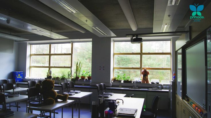 #fabricduct from #prihoda at Eastwood school Glasgow - science classroom