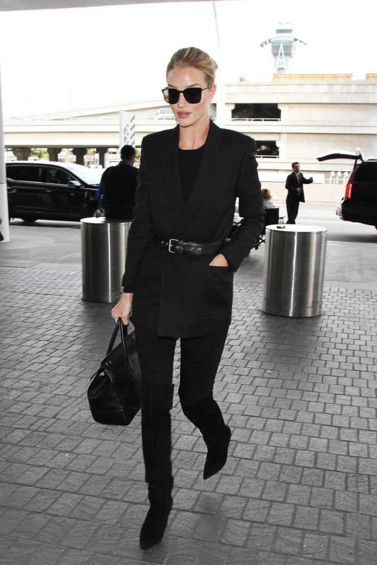 The Best Red Carpet-Worthy Celebrity Airport Outfits #refinery29  http://www.refinery29.com/celebrity-airport-style-photos-travel-outfits#slide-3  Rosie Huntington-WhiteleyTo ward off that frigid cabin air, opt for a Balmain blazer. Or, you know, one of those free blankets they leave on your seat. But don't forget to belt it, as seen here....