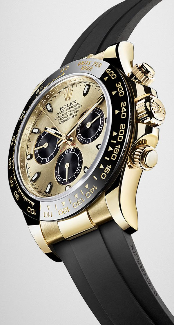 The Cosmograph Daytona fitted on the innovative Oysterflex bracelet in elastomer reinforced with a metal blade.