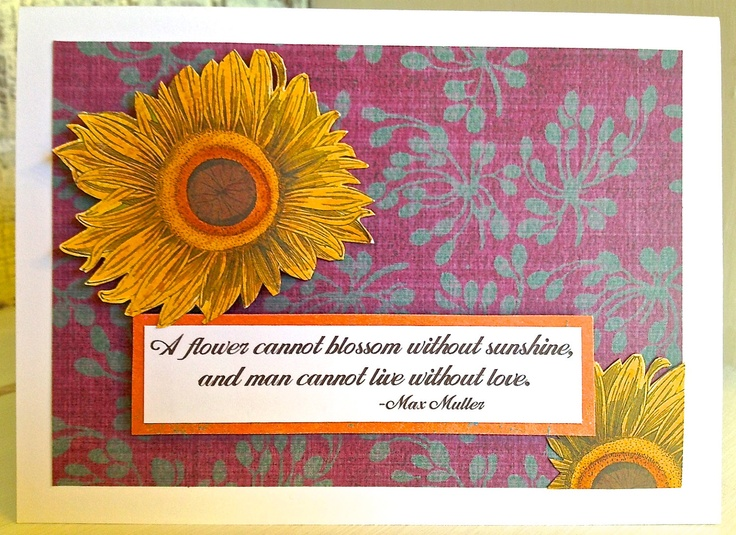 SUNFLOWER, Blossom and LOVE Card . Life Purple Yellow Orange Quote Flower Autumn Fall Mankind 1653. .00, via Etsy. SUNFLOWER, Blossom and LOVE Card . Life Purple Yellow Orange Quote Flower Autumn Fall Mankind 1653. .00, via Etsy.