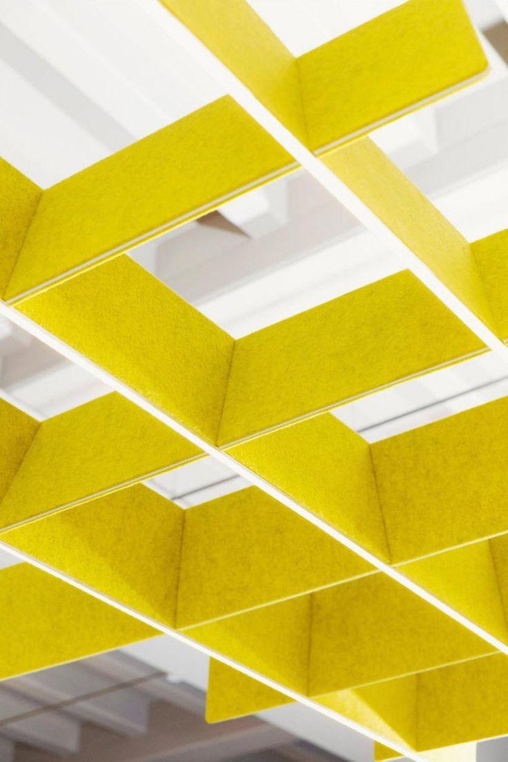 BUZZIGRID | Alain Gilles for Buzzispace. -   BUZZIBLINDS | Alain Gilles for Buzzispace -  open space office felt furniture design color graphic fonctional accoustic soundprofing recycled PET architecture NEOCON interior design