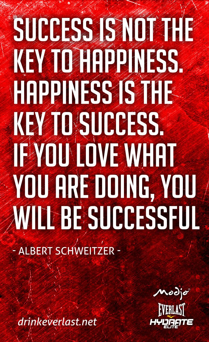 "success is not the key to happiness essay Hard work is the key to success one percent inspiration  ""the key to happiness is having dreams discusses in his essay ""what do we deserve""."