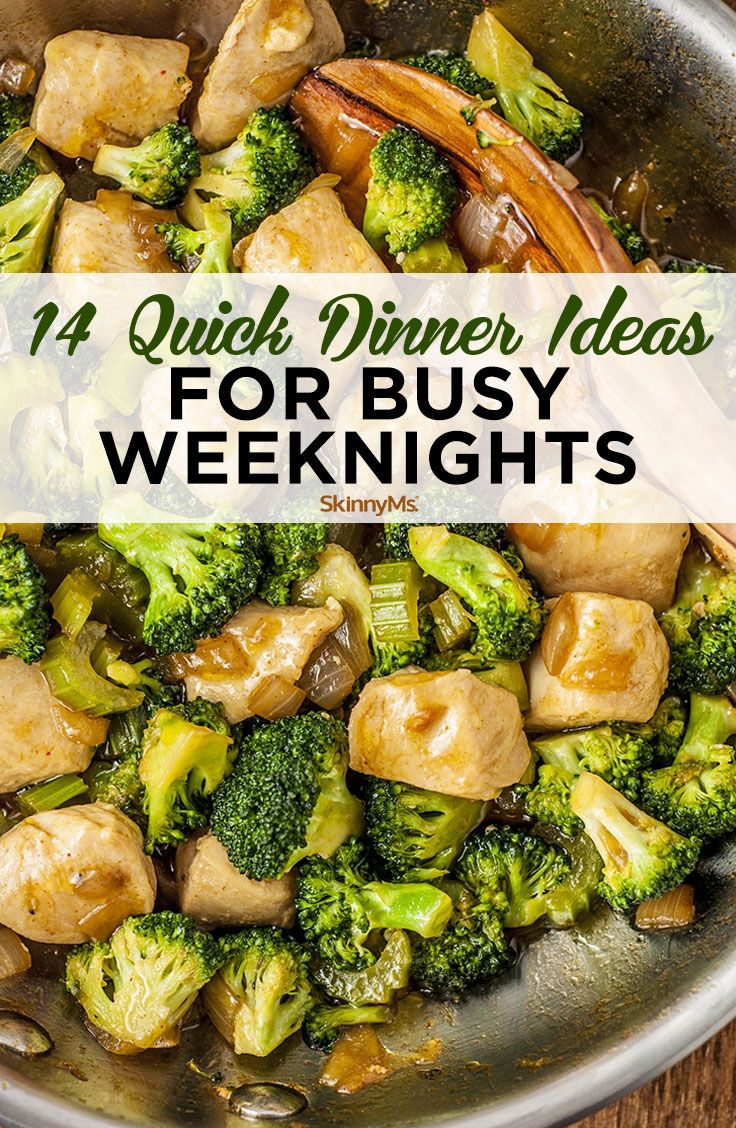 14 Fast Dinner Concepts for Busy Weeknights