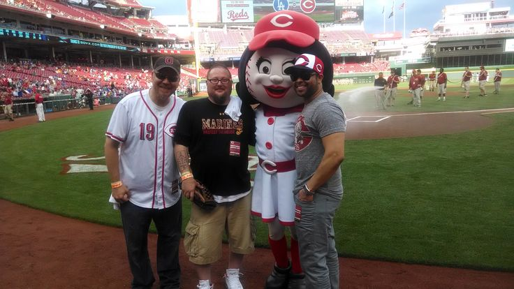 Me, Thadd, Rosie and Quincy at the Reds Vs. Dodgers game for the Ticket for Troops Day June 11, 2014.