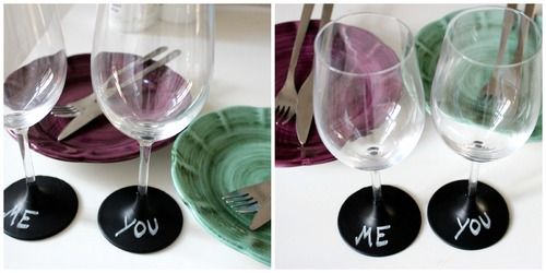 #DIY Chalkboard painted wineglasses! ENTER COMPETITION TO WIN