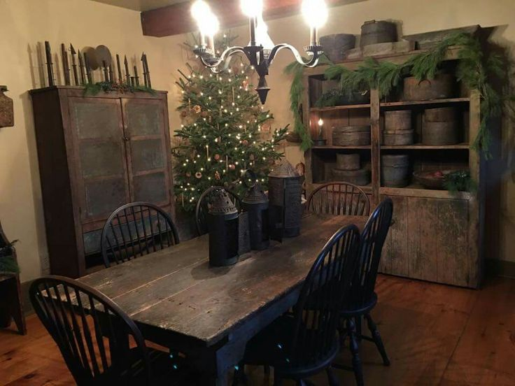 269 best Primitive Dining Rooms images on Pinterest