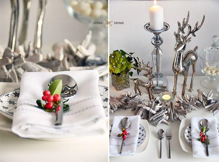 Świąteczne aranżacje stołu | Zoyka HOME blog wnętrzarski