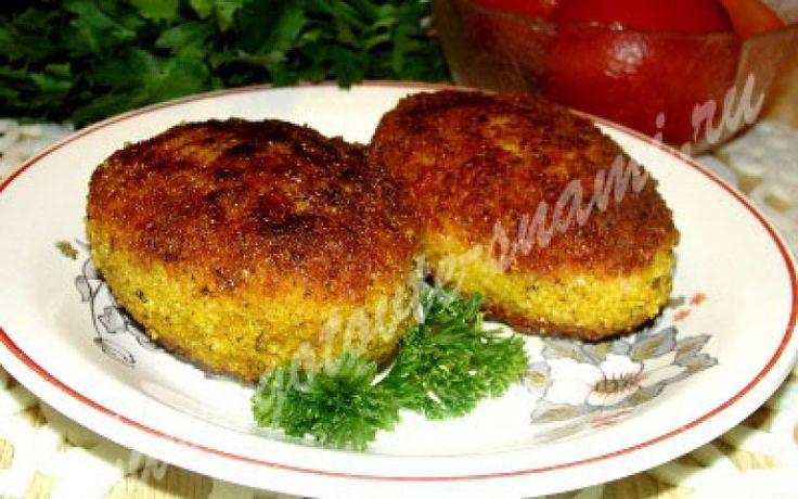 Котлетки куриные с начинкой из сыра и зелени