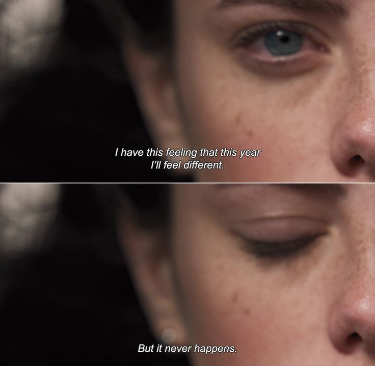 ― The Truth About Emanuel (2013)Emanuel: I have this feeling that this year I'll feel different. But it never happens.