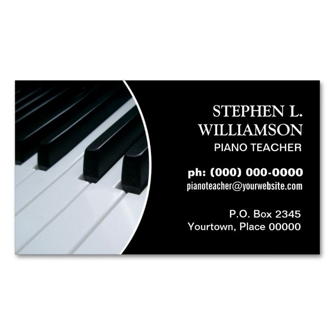 Piano Teacher Frame Double-Sided Standard Business Cards (Pack Of 100). Make your own business card with this great design. All you need is to add your info to this template. Click the image to try it out!