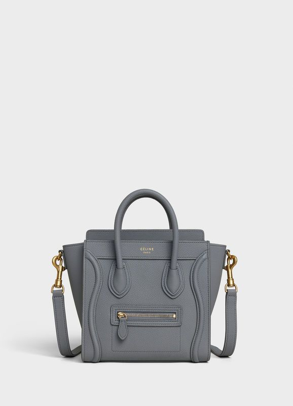1e32b62d383cd5 Nano Luggage bag in baby drummed calfskin | CELINE | BAGS in 2019 ...