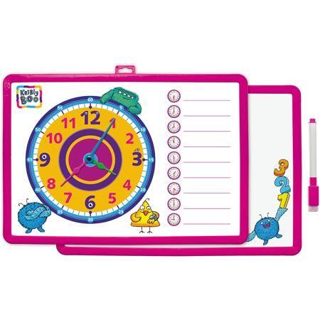 Kribly Boo Доска-часы двусторонняя, с маркером (розовая)  — 425р.  Характеристики товара:  • цвет: розовый • материал: полимер • размер: 25х34 см • вес: 180 г • комплектация: доска-часы, маркер • возраст: от трех лет • страна бренда: Финляндия • страна изготовитель: Китай  Такая доска сделает учебу легче и интереснее! Доска выпонена в приятной яркой расцветке. С помощью неё ребенок легко научится узнавать время, сможет рисовать, а также будет тренировать внимательность, абстрактное мышление…