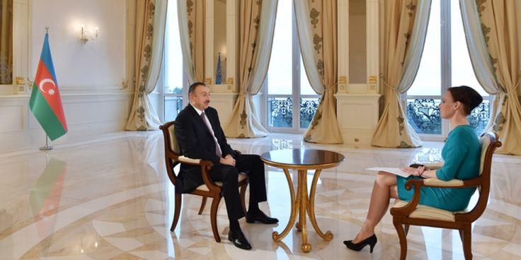 """Russia-24"" television channel interviewed Azerbaijan president Ilham Aliyev"