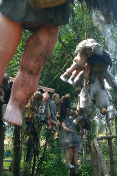 Visit an island filled with creepy dolls meant to scare evil spirits..