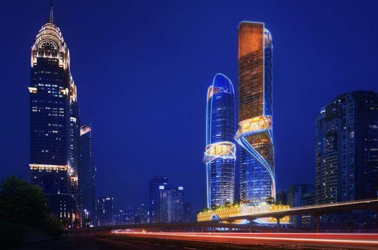 Dubaï est en train de construire le premier hôtel avec une forêt tropicale…